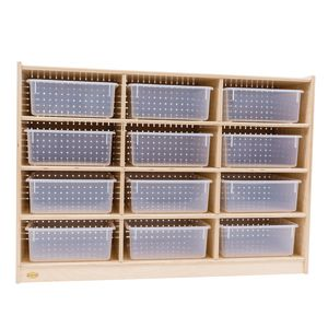 12-Tray Storage Cabinet with Clear Trays