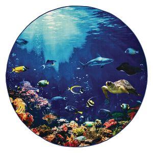 Explore the Ocean 6' Round Pixel Perfect Carpet