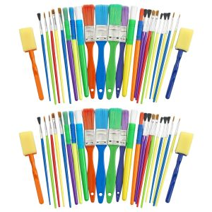 50 Assorted Paint Brush and Applicators in a Cylinder