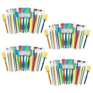 100  Assorted Paint Brush and Applicators in a Cylinder