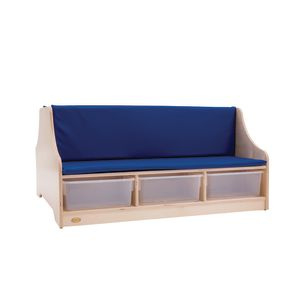 Double Sided Reading Bench with Storage - Blue