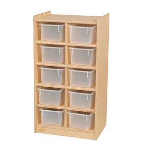 Slim 10-Tray Storage with Clear Trays
