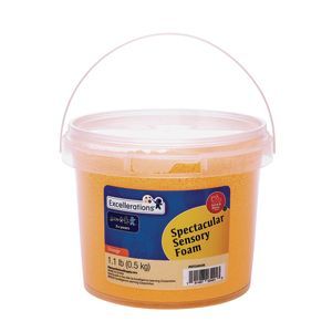 Excellerations® Spectacular Sensory Foam - Orange, 1.1 lb.