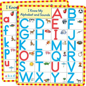 Magnetic Alphabet Charts, Set Of 2