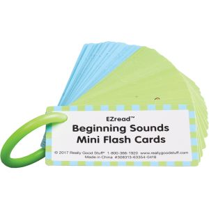 EZread? Beginning Sounds Mini Flash Cards