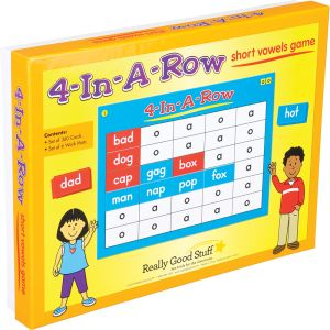 4-In-A-Row: Short Vowels Game