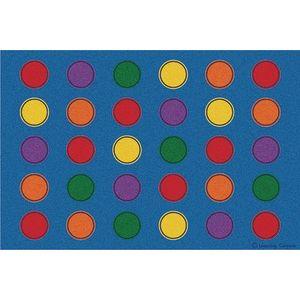 Seating Dots Rainbow Premium Carpet - 8' x 12' Rectangle