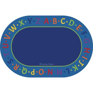 Alphabet Border Premium Carpet - 6' x 9' Oval
