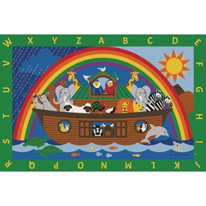 Noah's Ark Alphabet Premium Carpet - 6' x 9' Rectangle