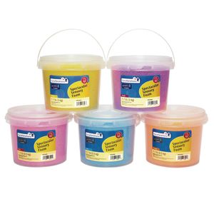Excellerations® Spectacular Sensory Foam - Set of 5 Tubs, 5.5 lbs.