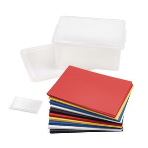 Primary Colors Construction Paper with Storage Bin, 5 Colors, 500 Sheets, 9