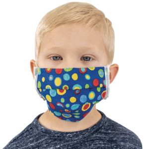 Cotton Pleated Face Covering - Elastic Loop Ear Size Youth Ages 4-10 - 20-Pack