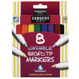 Washable Markers, Set of 8 Colors
