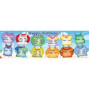 Happy Birthday Clothesline Banner