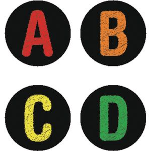 Chalkboard-Style Alphabet And Number Labels