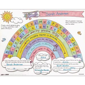 Ready-To-Decorate® Rainbow Letter Arc Posters