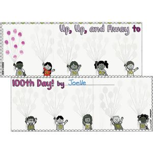 Ready-To-Decorate® Up, Up, And Away To 100th Day! Posters