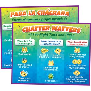 Chatter Matters Poster - English/Spanish