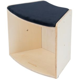 Curved Low Seat Small Bookcase - 1 seat/bookcase