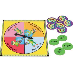 Left Right Ribbit! Sight Word Spin Game