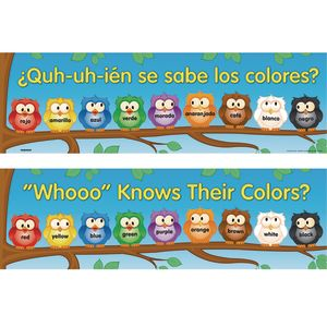 Whooo Knows Their Colors? Banner - English-Spanish