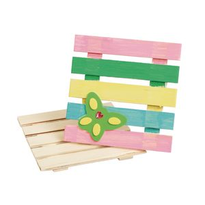 Colorations® Decorate Your Own Wooden Pallets, Set of 12
