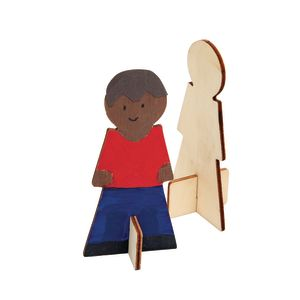 Colorations® Decorate Your Own Wood People, Set of 12