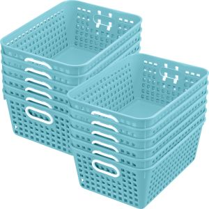 Book Baskets - Large Rectangle - Set of 12 - Water
