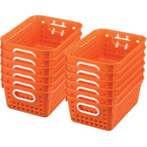 Book Baskets - Medium Rectangle - Set of 12 - Orange