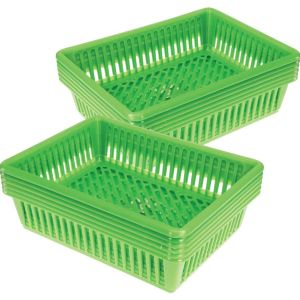 Oversized Paper And Folder Baskets - Set of 12 - Neon Green