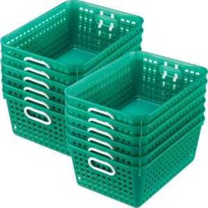 Book Baskets - Large Rectangle - Set of 12 - Green