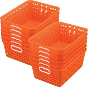 Book Baskets - Large Rectangle - Set of 12 - Orange