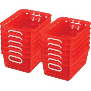 Book Baskets - Medium Rectangle - Set of 12 - Red