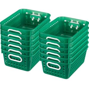 Book Baskets - Medium Rectangle - Set of 12 - Green