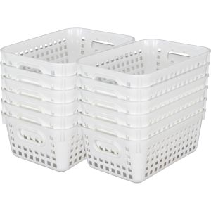 Book Baskets - Medium Rectangle - Set of 12 - White