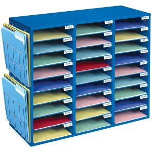 Mail Center & Paper Holders - Blue