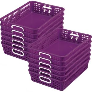 Classroom Paper Baskets - Set of 12 - Royal Purple