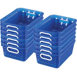 Book Baskets - Medium Rectangle - Set of 12 - Blue