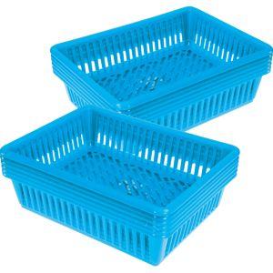 Oversized Paper And Folder Baskets - Set of 12 - Neon Blue