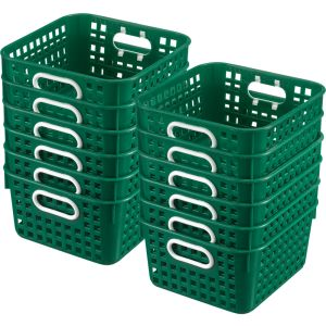 Book Baskets - Square - Set of 12 - Royal Green