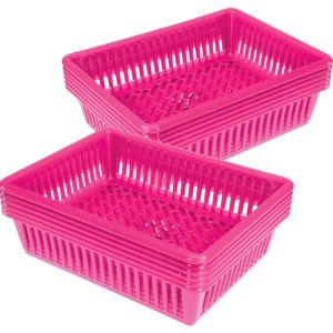 Oversized Paper And Folder Baskets - Set of 12 - Neon Pink