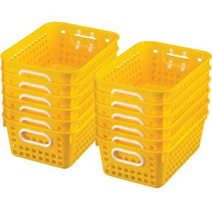 Book Baskets - Medium Rectangle - Set of 12 - Yellow