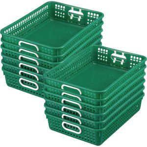 Classroom Paper Baskets - Set of 12 - Green