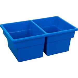 Two-Compartment All-Purpose Bin, Blue