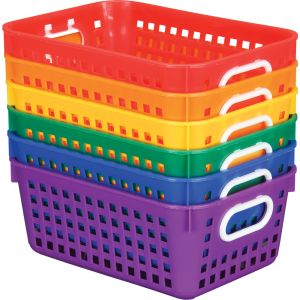 Group Colors For 6 - Book Baskets, Medium Rectangle