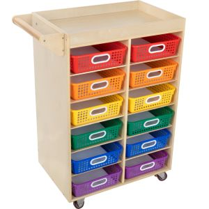 Rolling Organizer Magnetic Dry Erase Board