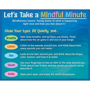 Lets Take a Mindful Minute Poster