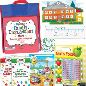 Deluxe Family Engagement Math - Practice, Solve and Play Pack - First Grade