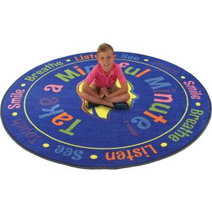 Take A Mindful Minute Rug - Round - 6'