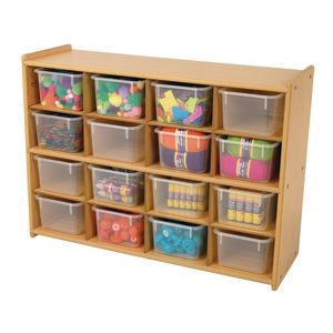 "Angeles Value Line™ Cubbie Storage - 36""W, With Clear Trays"